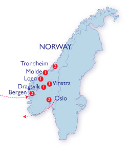 The Best Of Norway FancyFree Holidays - Norway map highlights